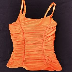 579 Y2K Ruched Orange Top